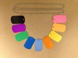 Personalized Aluminum Luggage Tags Engraved Dog Tag  CUSTOM