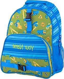 Personalized Stephen Joseph Construction All Over Print Back