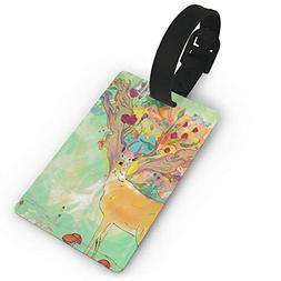Personalized Luggage Tag Mother Nature World Cool Deer Custo