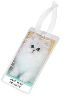 Pet Carrier Picture ID Tag - Luggage ID Tag