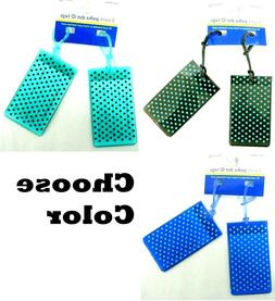 Travel Smart by Conair Polka Dot Jelly Luggage ID Tags 2 Cou