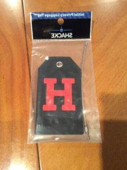 "Shacke Privacy Luggage Tag Initial ""H""  Tag w/Stainless"