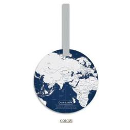 PVC World Map Creative Luggage Suitcase Holiday Tags Bag  Ac