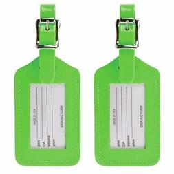 Rectangular Luggage Tag in Neon by Lewis N. Clark