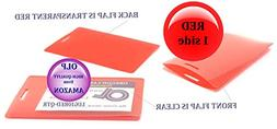 Red/Clear Luggage Tag Laminating Pouches 2-1/2 x 4-1/4 Qty 2