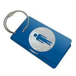 Restrooms Men Suitcase Bag ID Luggage Tag Set