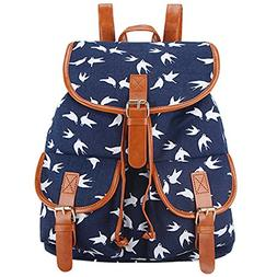 Toping Fine School Bag Bohemian Vintage Women Backpack Draws