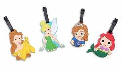 Finex Set of 4 Disney Travel Luggage Tag Tinker Bell Sofia t