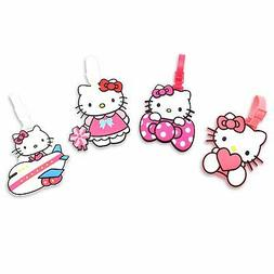 Finex Set of 4 Hello Kitty Travel Carry On Bag Luggage ID Ta