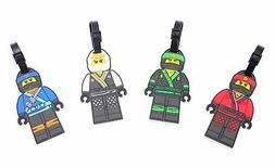 Finex Set of 4 LEGO Ninjago Travel Luggage Tag  Kai Jay Lloy