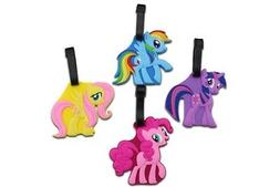 Finex - Set of 4 My Little Pony Travel Luggage Tag Rainbow D