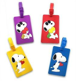Finex Set of 4 - Peanuts Snoopy Travel Carry On Bag Luggage