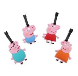 Finex Set of 4 Peppa Pig George Pig Family Travel Luggage Ta