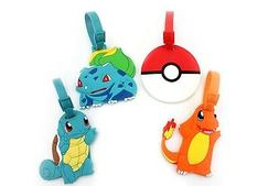 Finex Set of 4 Pokemon Pokeball Charmander Bulbasaur Squirtl