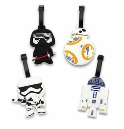 Finex - Set of 4 Star Wars BB-8 R2D2 Travel Luggage ID Tag B