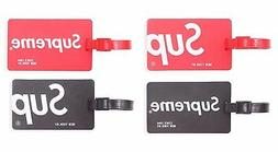 Finex Set of 4 Supreme New York Travel Silicone Luggage Tags