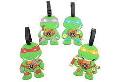 Finex - Set of 4 - TMNT Teenage Mutant Ninja Turtles Travel