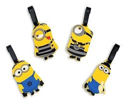 Finex - Set of 4 Yellow Minion Travel Luggage Tags Bag Tag w