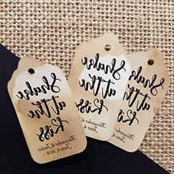 Shake at the Kiss Personalized. SMALL Tea Stained Favor Tag