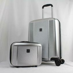 TAG SPECTRUM 2 PC. HARDSIDE SPINNER CARRY ON LUGGAGE SET SIL