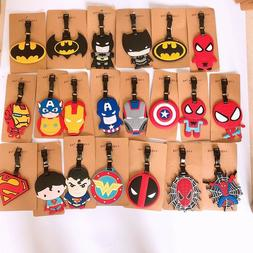 The Avengers spider man deadpool  PVC tag luggage tags Bagga