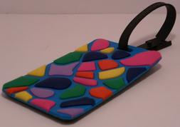 stained glass luggage tag