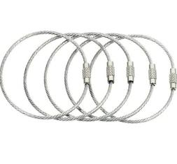 BlueCosto Stainless Steel String Wire Luggage Tag Loops Key