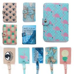 Stylish Flamingo Pattern Passport Cover ID Bank Card Bag Hol