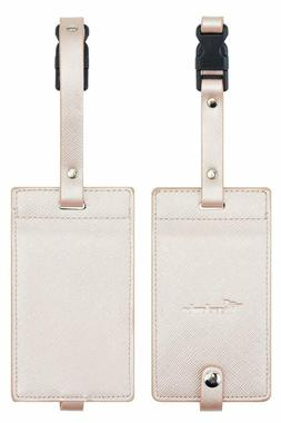 Travelambo Synethic Leather Luggage Tags  Bag Tags 2 Pieces