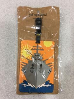 PUZZLED TAGGAGE! BATTLESHIP LUGGAGE TAG 3.5X5 INCH