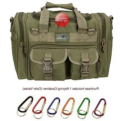 "NPUSA Mens 15"" Tan inch Duffel Duffle Molle Tactical Shoulde"