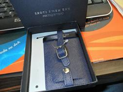 THE MEN'S STORE BLOOMINGDALES GENUINE LEATHER LUGGAGE TAG NA