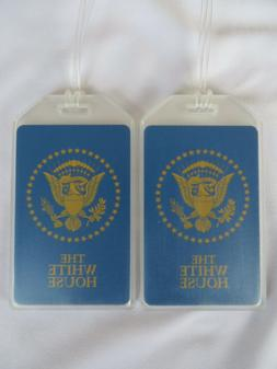 THE WHITE HOUSE LUGGAGE TAGS 2-TAG SET - PRESIDENTIAL SEAL -
