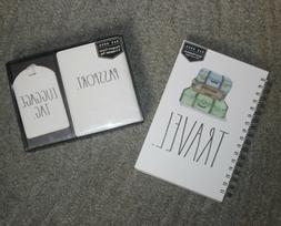 "Rae Dunn ""TRAVEL"" Gift Set: Notebook and Passport Cover & Lu"