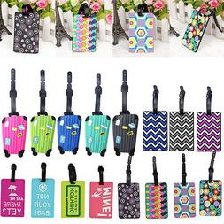 Travel Luggage Bag Tag Name Address ID Label Silicone Suitca