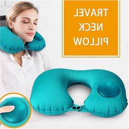 travel neck pillow automatic inflatable foldable u
