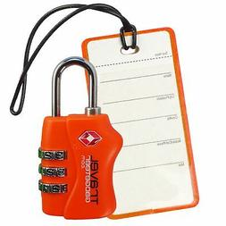 TSA Luggage Lock + Matching TAG | BRIGHT COLORS Help Easily