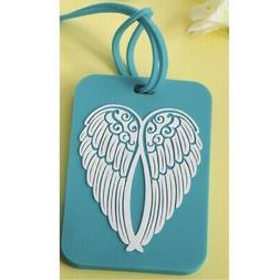 Turquoise Angel Wing Design Luggage Tag New ONE Tag