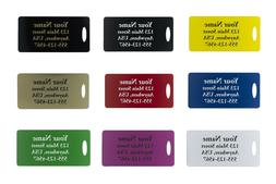 Two Custom Engraved Plastic Luggage Tags-Nine Color Options-