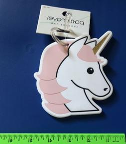 unicorn rubber luggage tag by pathtravel