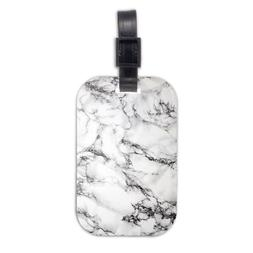 White Marble Wood Travel Luggage Tag Bag Tags Accessories
