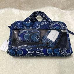 Vera Bradley Women's Travel Bundle Blue Tapestry with Pill