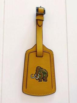 COACH Wooly Mammoth Yellow Leather Luggage Tag NEW