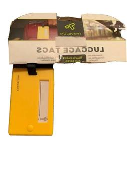 yellow luggage tag new